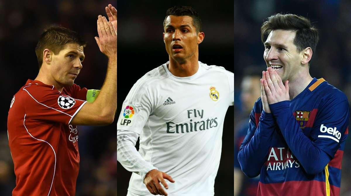 Gerrard Ronaldo Messi