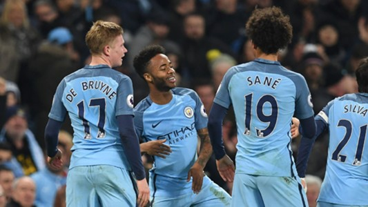 Kevin De Bruyne Raheem Sterling Leroy Sane Manchester City Arsenal Premier League