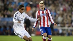 Raphael Varane Antoine Griezmann Atletico Madrid Real Madrid Champions League 14042015