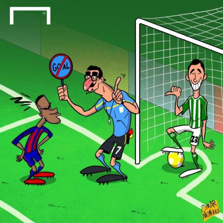 Barcelona referee goal cartoon