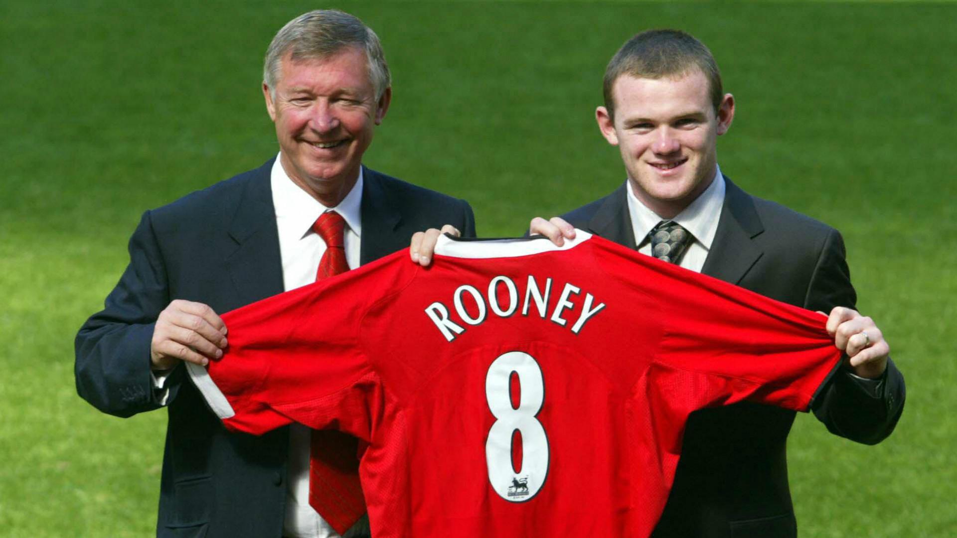 Wayne Rooney Sir Alex Ferguson Manchester United August 2004