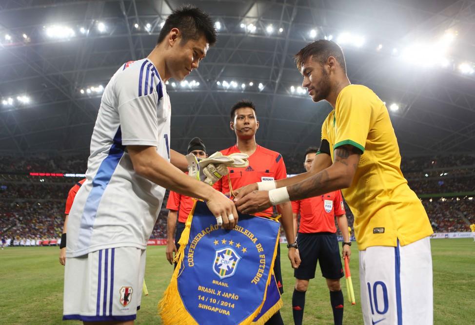 Neymar Brazil Japan 141014