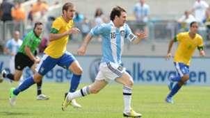 Lionel Messi Argentina Brazil 2012