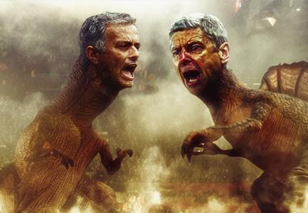 Mourinho Wenger dinosaurs GFX