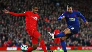 Zlatan Ibrahimovic Premier League Liverpool v Manchester United 171016