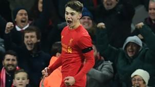 HD Ben Woodburn Liverpool celebrates