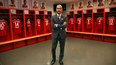 Pep Guardiola dressing room