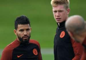 Sergio Aguero Kevin De Bruyne Manchester City 12092016