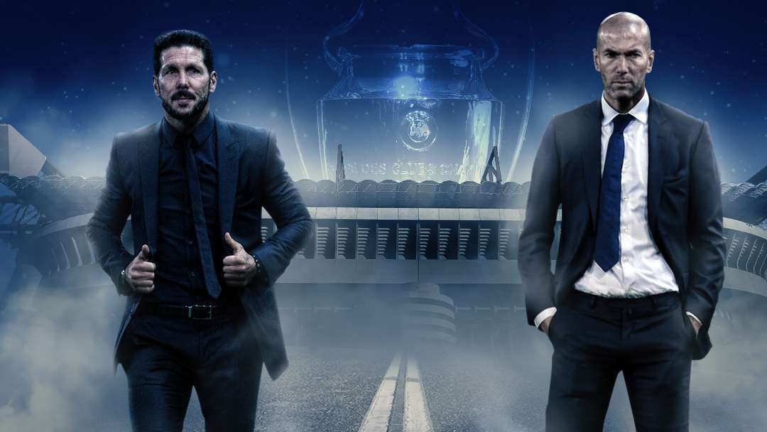 Diego Simeone Zinedine Zidane Champions League final