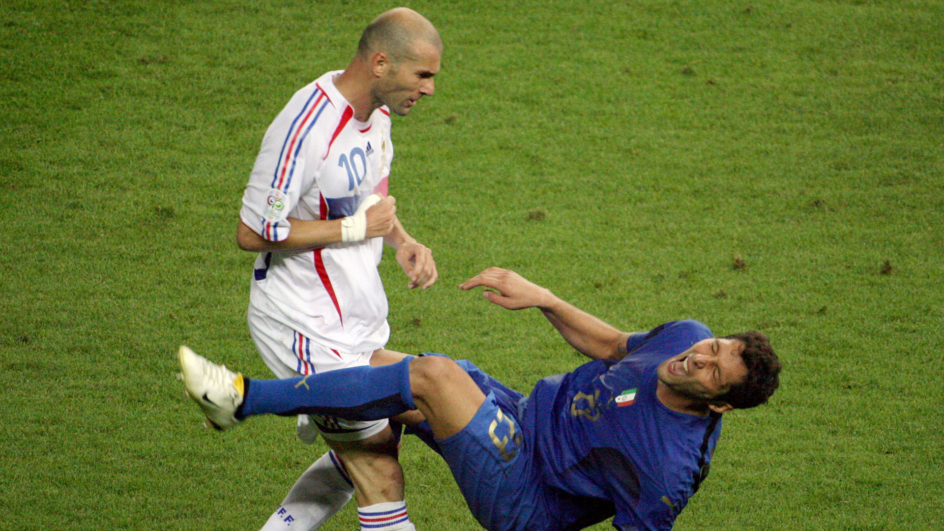 Zinedine Zidane Marco Materazzi France Italy World Cup final 2006