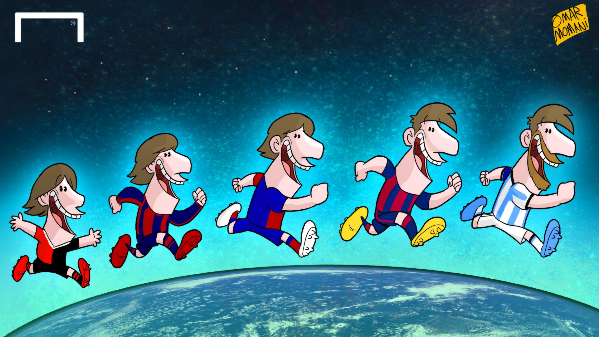 CARTOON: Messi's evolution