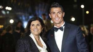 Ronaldo film premiere Cristiano Ronaldo and his mother, Maria
