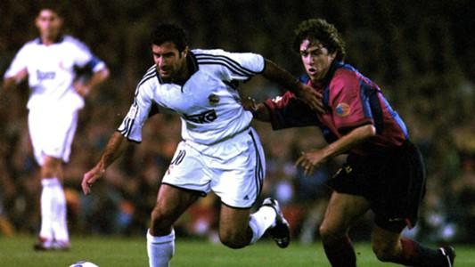 Luis Figo Carles Puyol Real Madrid Barcelona 2000