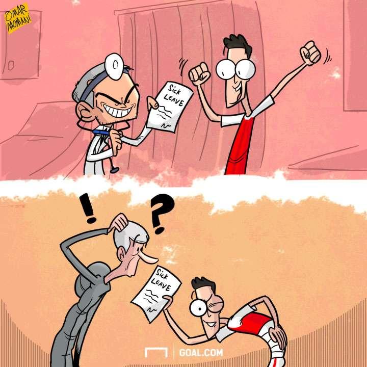 Mesut Ozil Injury Cartoon