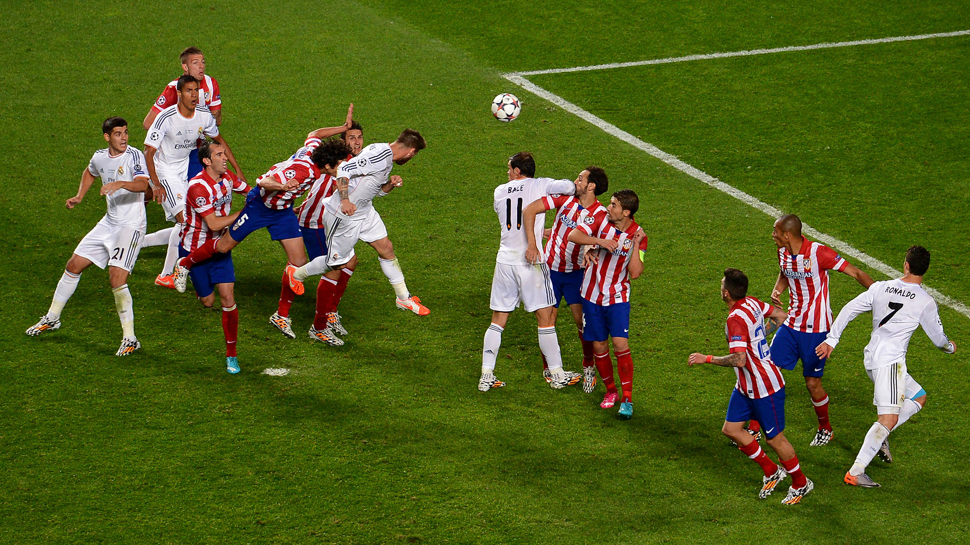 Sergio Ramos Real Madrid Atletico Champions League final 2014