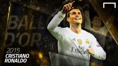 Cristiano Ronaldo Ballon d'Or 2015