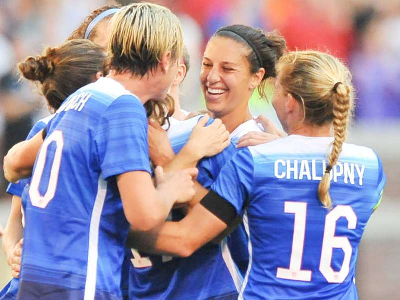 Lloyd scores another hat trick as U.S. women romp over Haiti