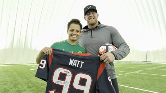Javier Chicharito Hernandez Mexico J.J. Watt Houston Texans