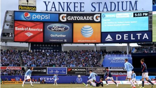 NYCFC New England Yankee Stadium MLS 03152015