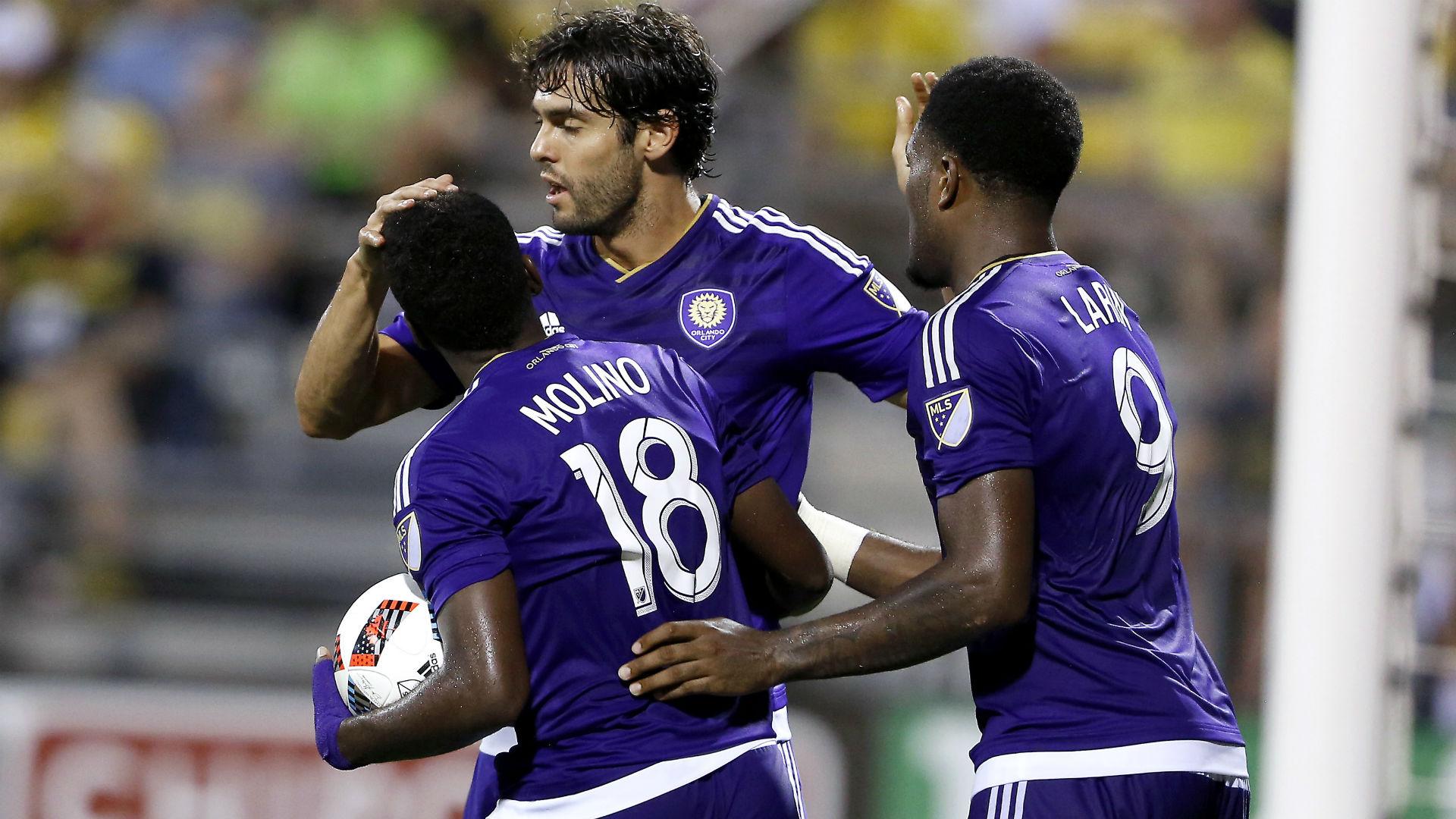 Kevin Molino Kaka Cyle Larin Orlando City MLS 072316.jpg