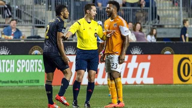 Carlos Valdes, Giles Barnes, Houston Dynamo, Philadelphia Union, MLS