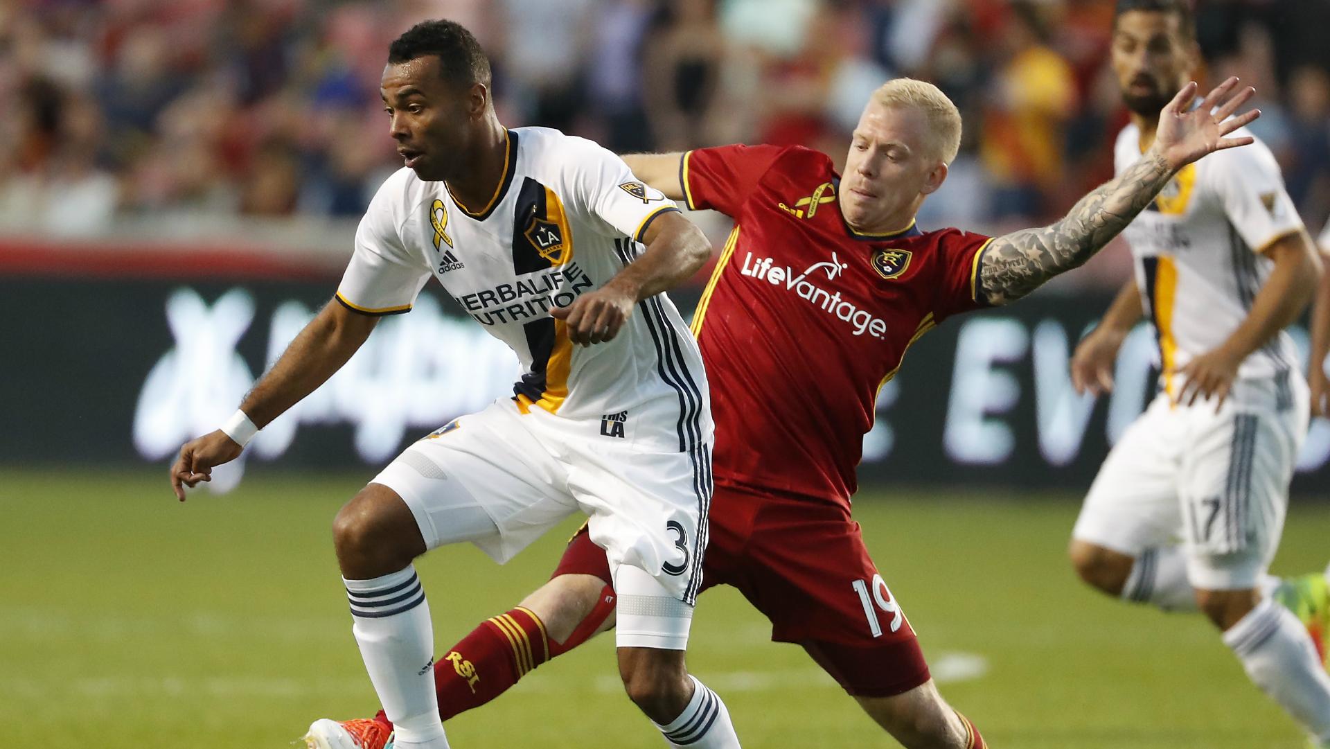 Ashley Cole Luke Mulholland LA Galaxy Real Salt Lake MLS 09072016