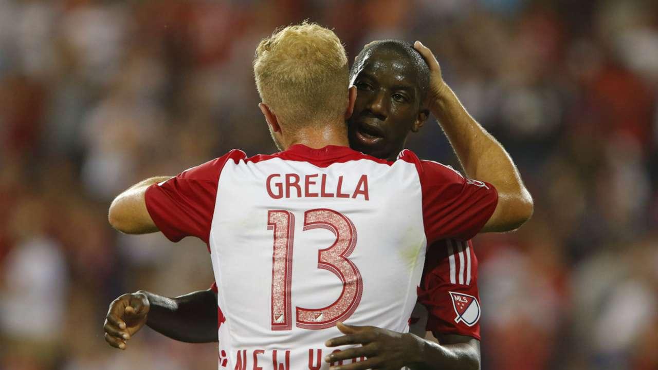 Mike Grella Bradley Wright-Phillips New York Red Bulls MLS 08302015