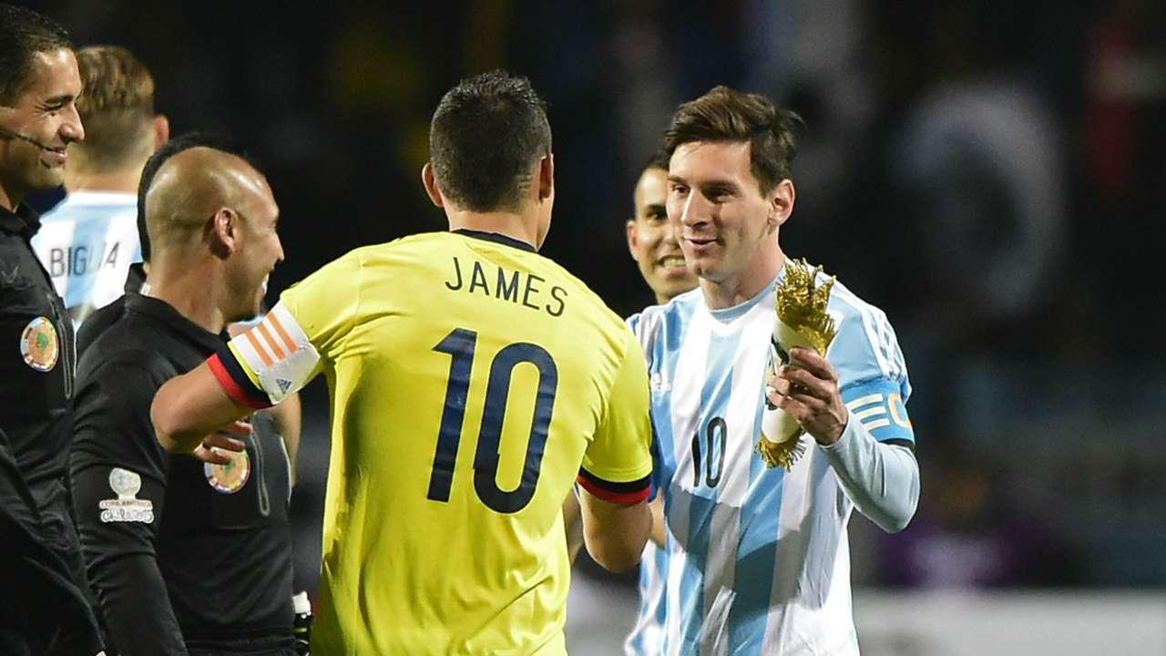 James Rodriguez Lionel Messi Copa America 2015