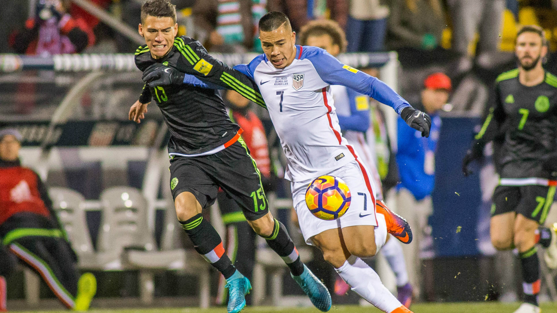 Bobby Wood Hector Moreno USA Mexico 11112016