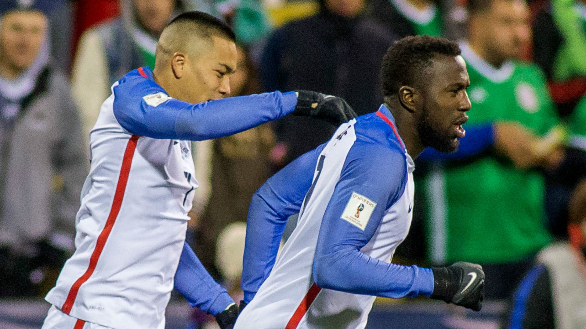Jozy Altidore Bobby Wood USA Mexico 11112016