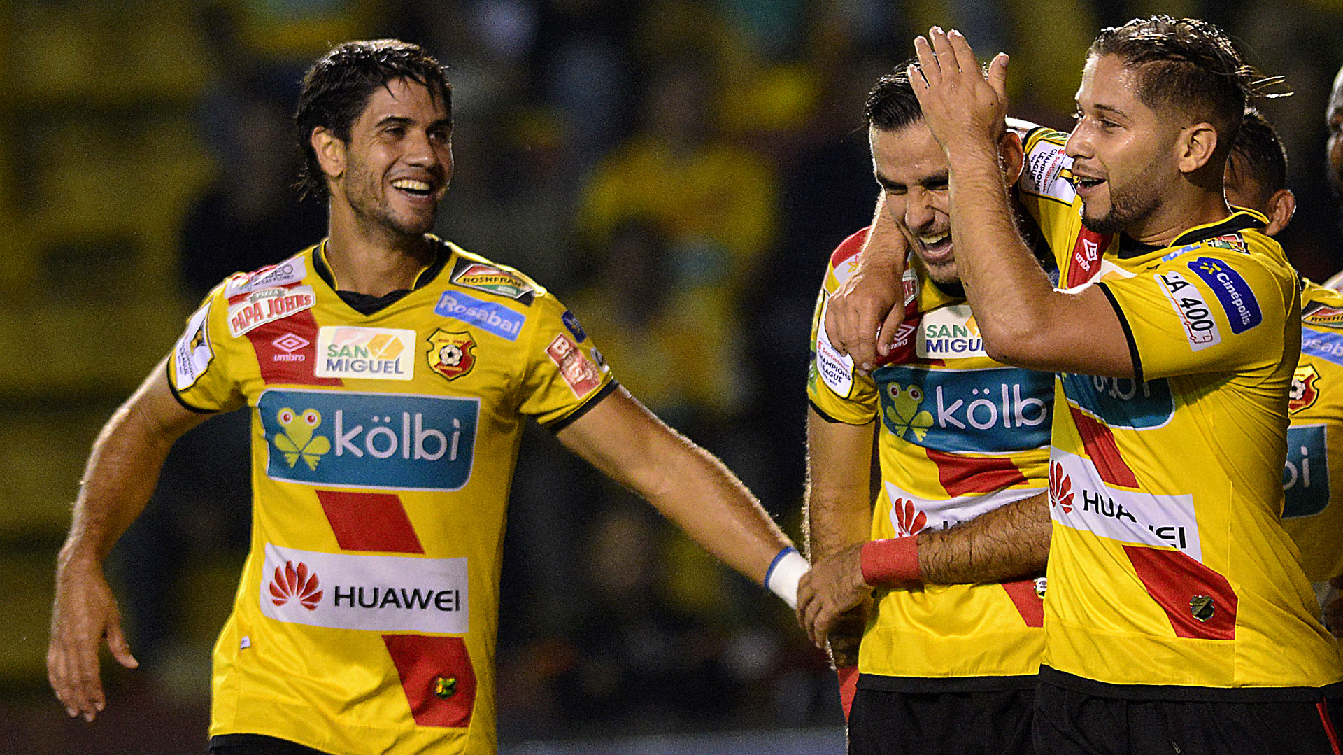 Pablo Salazar, Yendrick Ruiz, Elias Aguilar Herediano CONCACAF Champions League 09152016