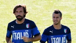 Andrea Pirlo Sebastion Giovinco Italy 10082015