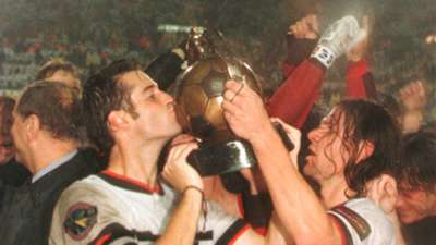 John Harkes and Jeff Agoos DC United 1996 MLS Cup