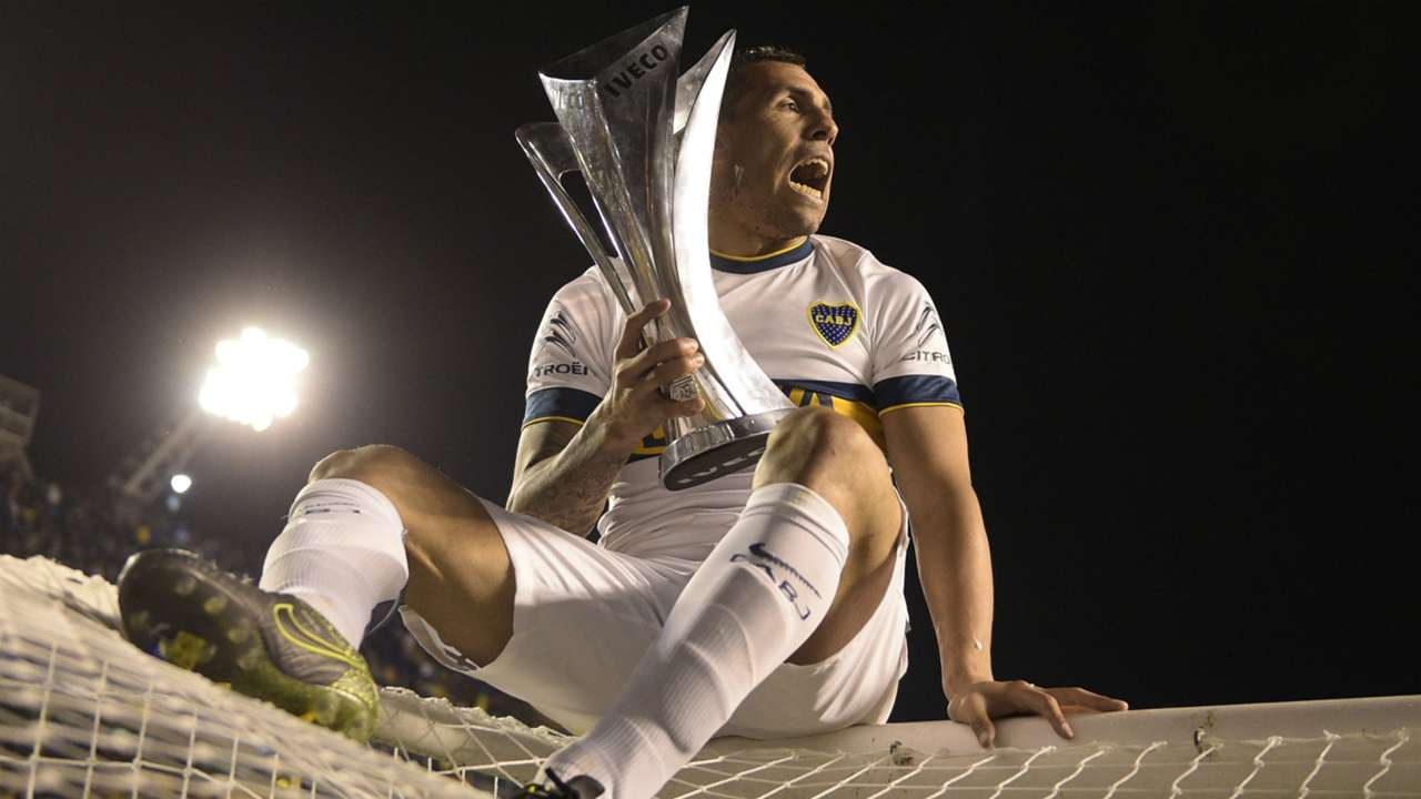 Carlos Tevez Boca Juniors Champion of Argentina tournament 2015