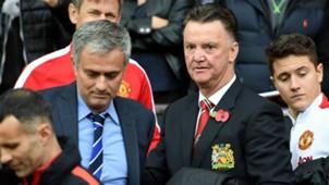 Jose Mourinho Louis Van Gaal Manchester United Chelsea Premier League 2014