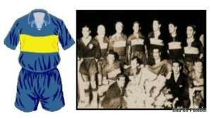 Brazil wearing Boca Juniors Jersey Copa America 1937