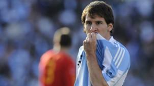 Lionel Messi Argentina Spain Friendly 07092010