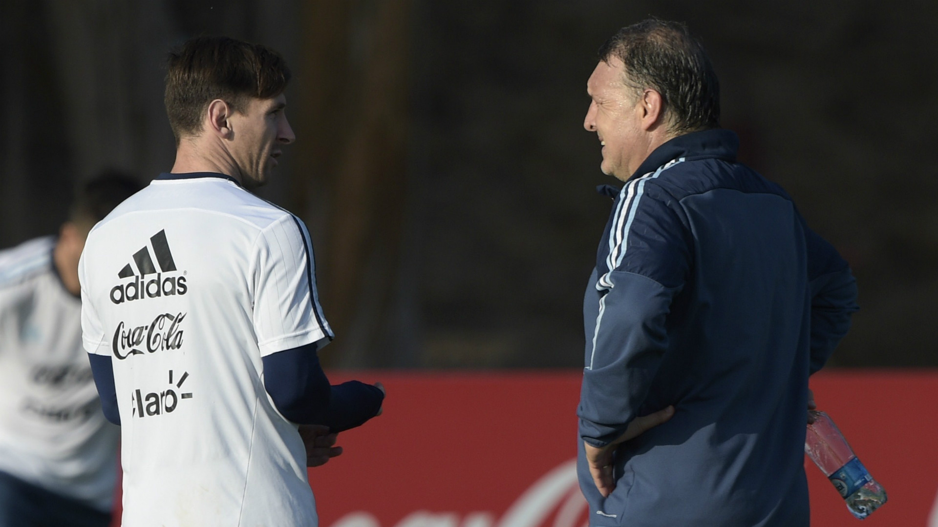 Lionel Messi Gerardo Martino Argentina Training Session Copa America