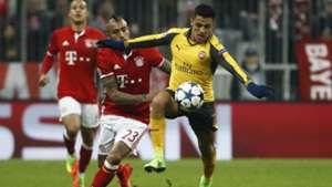 Alexis Sanchez Arturo Vidal Bayern Munich Arsenal Champions League 15022017