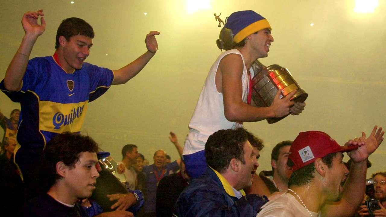Juan Roman Riquelme Boca Juniors Copa Libertadores 2001