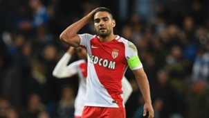 Falcao se lamenta, Monaco vs City Champions League
