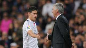 James Rodríguez & Calo Ancelotti Real Madrid