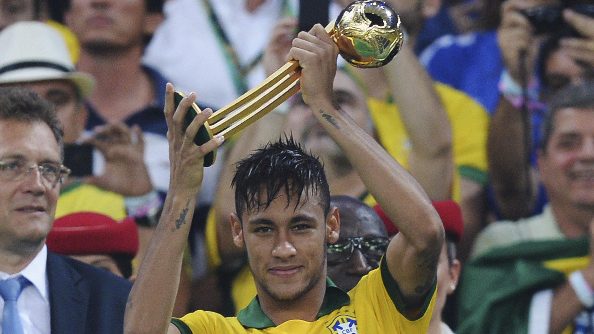 Neymar Golden Ball Confederations Cup Brazil 2013