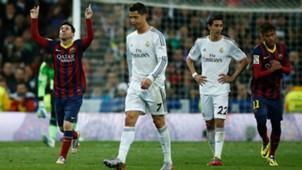 Messi Ronaldo Di MAria Neymar Real Madrid BArcelona La Liga Bernabeu 23032014