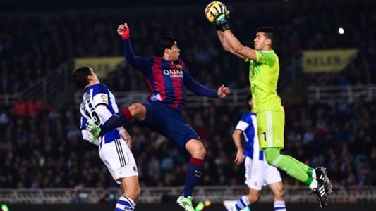 Geronimo Rulli Real Sociedad Barcelona La Liga 04022015