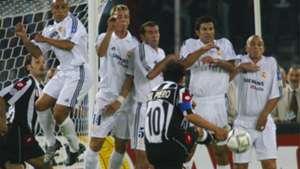 Alessandro Del Piero Roberto Carlos Zinedine Zidane Luis Figo Esteban Cambiasso Juventus Real Madrid 14052003