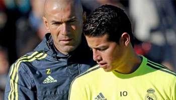 Zidane y James Rodríguez - Real Madrid 2016