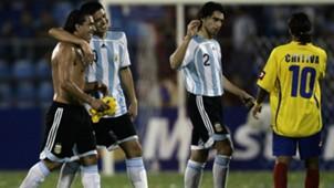 Carlos Tevez Juan Roman Riquelme Roberto Ayala Argentina Colombia Copa America 02072007