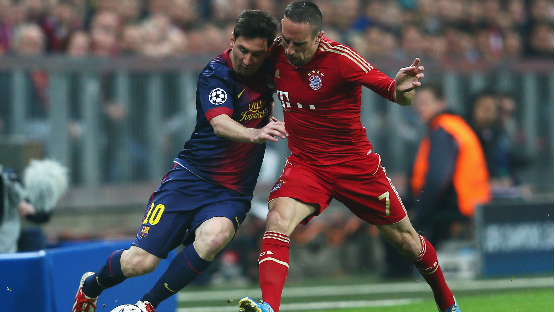 Lionel Messi Franck Ribery Bayern Munchen Barcelona Champions League 23042013