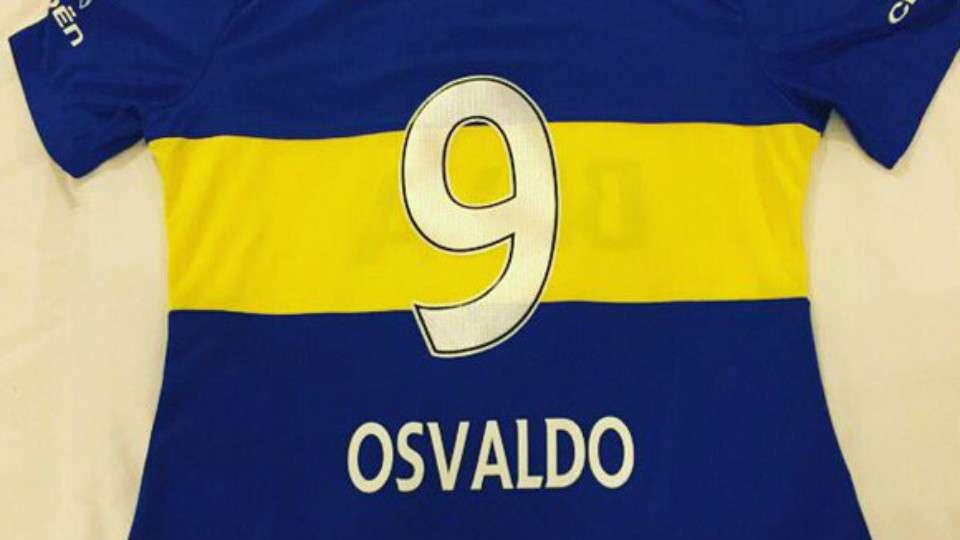 Daniel Osvaldo camiseta 9 Boca Juniors 14012016
